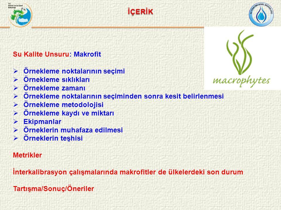TEZİN AMACI Su Çerçeve Direktifine göre ülkemizde yapılacak biyolojik izleme çalışmalarında makrofit kalite unsuru açısından standart metodların bir arada bulunduğu ve Türkiye'ye özgü yeni bir indeksin önerilmesine yönelik bir dökümanın oluşturulması amaçlanmaktadır.