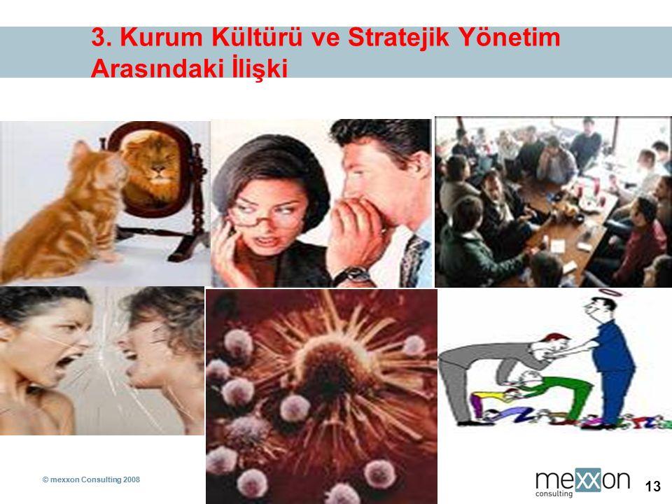 © mexxon Consulting 2008 13 © mexxon Consulting 2008 13 3. Kurum Kültürü ve Stratejik Yönetim Arasındaki İlişki