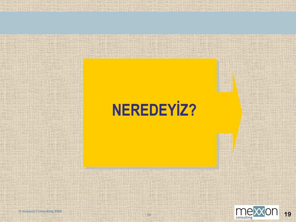© mexxon Consulting 2008 19 © mexxon Consulting 2008 19 NEREDEYİZ?