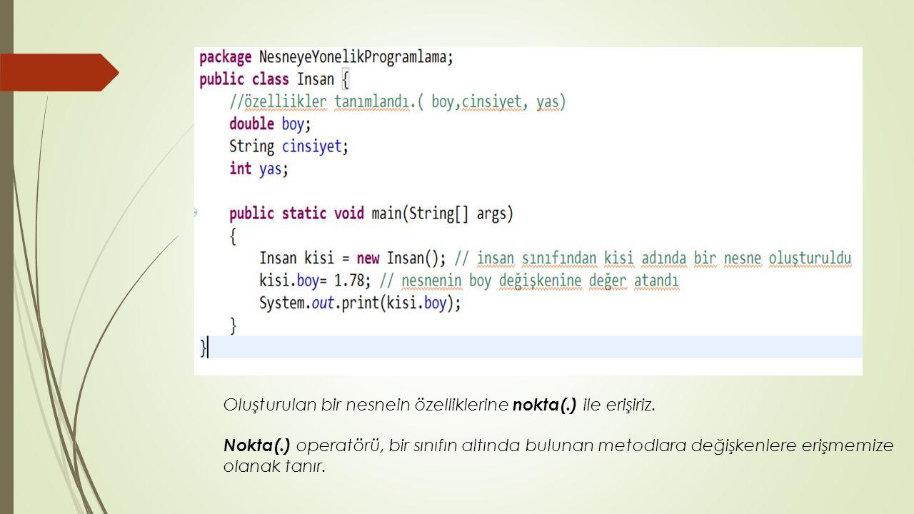 Static Anahtar Kelimesi Static İmport  Static olan metodlara sınıf adını yazmadan erişmek istiyorsak static import yöntemi kullanılır.