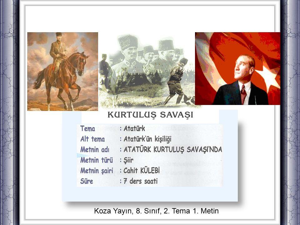 Konuşalım Anlatalım kişisel duygu ve düşünceleriniziOkuduğunuz gazete haberleri, makaleler, yazı dizileri ve şiirlerden Atatürk ün kişiliği hakkında edindiğiniz bilgileri, kişisel duygu ve düşüncelerinizi anlatınız.