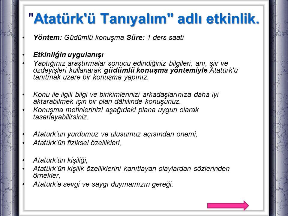Atatürk'ü Tanıyalım