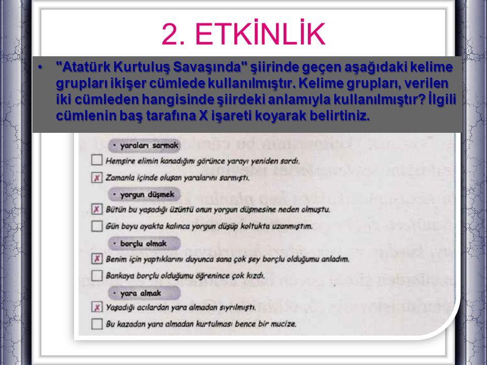 2. ETKİNLİK