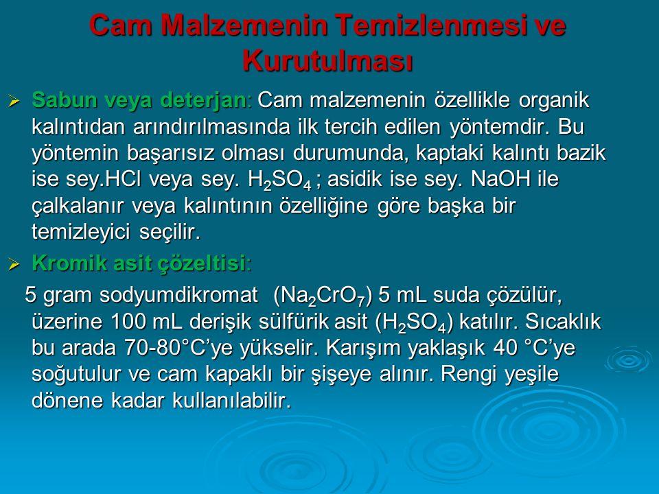  Bazik potasyum permanganat çözeltisi: 10 gr potasyum permanganat (KMnO 4 ) ile 10 gr sodyum hidroksit in (NaOH), 100 mL destile su içindeki menekşe renkli çözeltisidir.