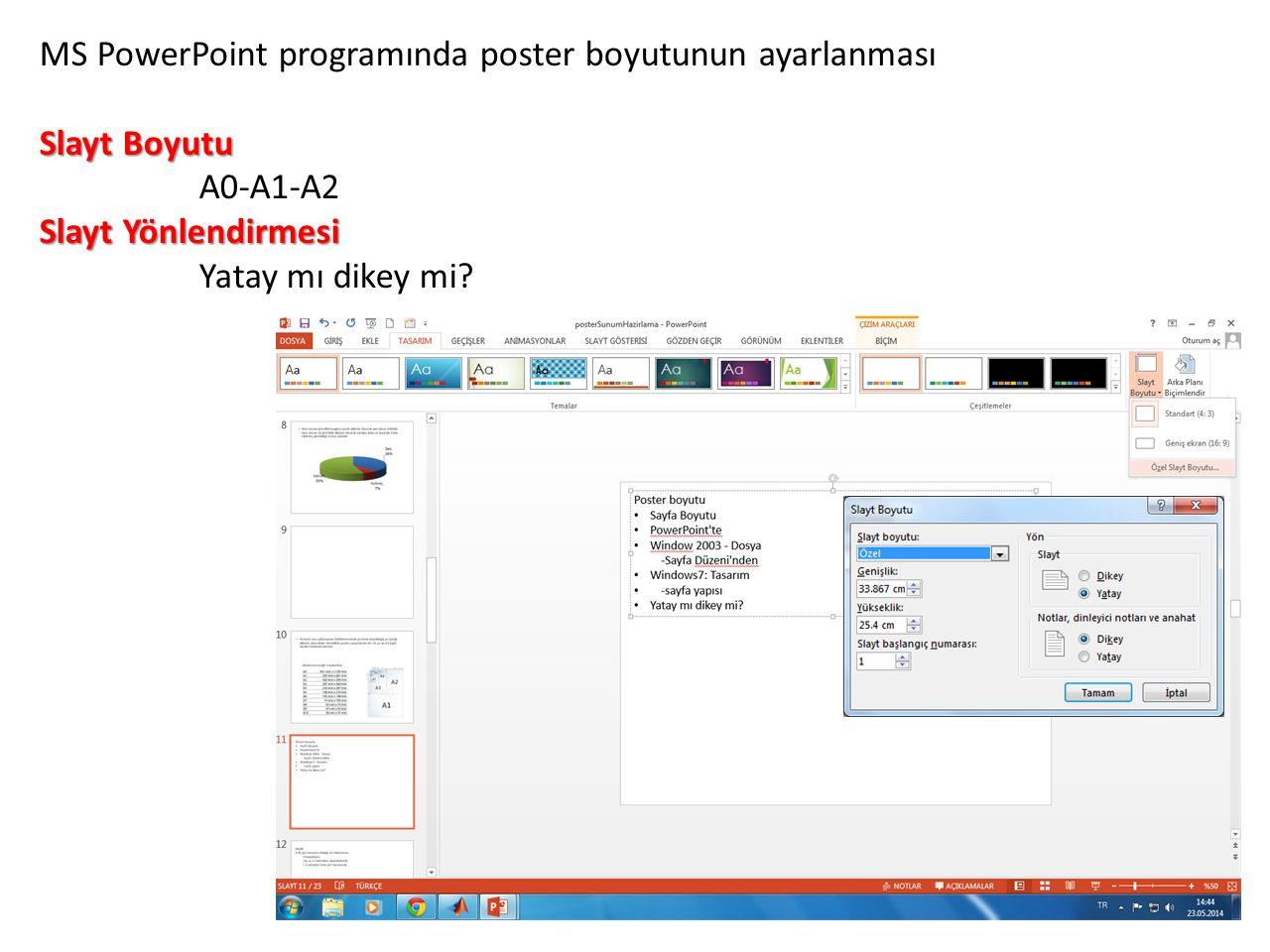 Poster Baskısı: Son Aşama Posterin tasarımının bütünüyle bittiğine kanaat getirildiğinde poster baskıya hazır hale getirilir.