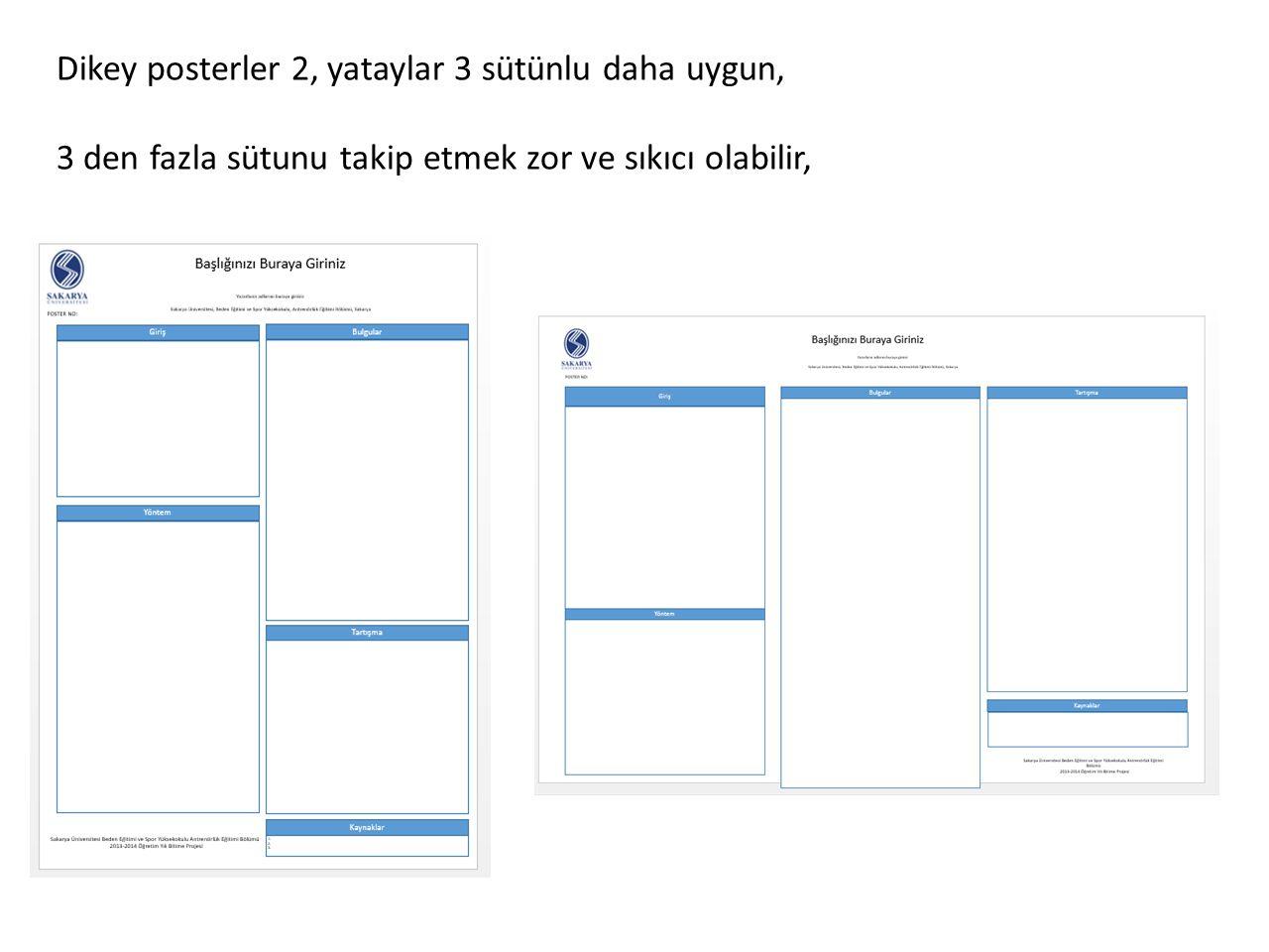 Poster Düzeni Poster düzeni çok farklı seçenekle hazırlanabilir.