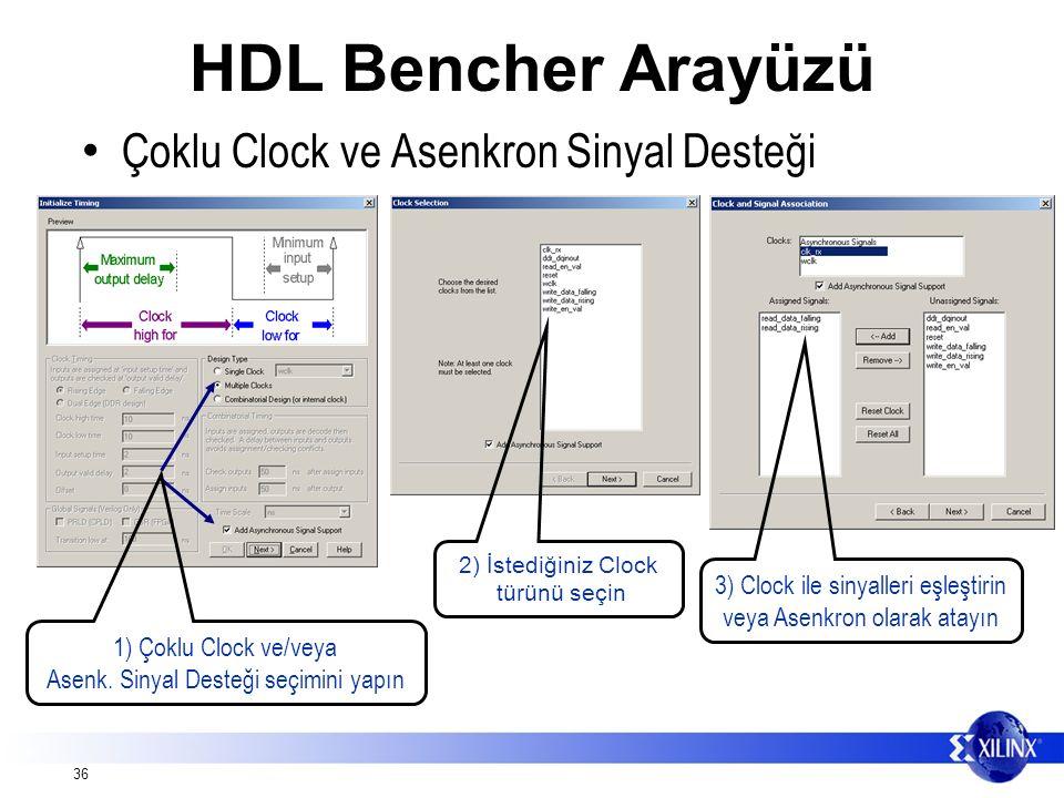 36 1) Çoklu Clock ve/veya Asenk.