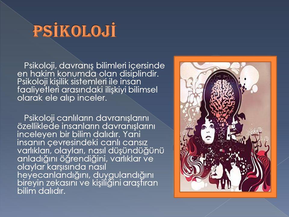 Psikoloji, davranış bilimleri içersinde en hakim konumda olan disiplindir.