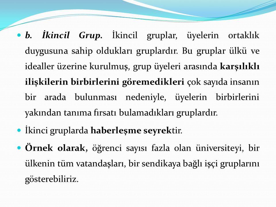 c.Referans Grupları.
