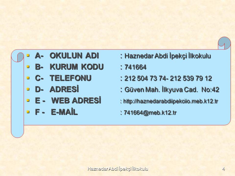 Haznedar Abdi İpekçi İlkokulu45 2014-2015 EĞİTİM ÖĞRETİM YILI DÖNEM FAALİYETLERİMİZ OKUL DERGİMİZ 'ÇINAR' YAYIN HAYATINA BAŞLADI