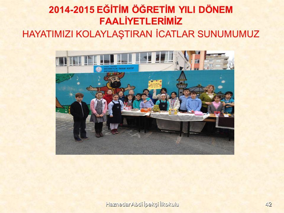 Haznedar Abdi İpekçi İlkokulu42 2014-2015 EĞİTİM ÖĞRETİM YILI DÖNEM FAALİYETLERİMİZ HAYATIMIZI KOLAYLAŞTIRAN İCATLAR SUNUMUMUZ