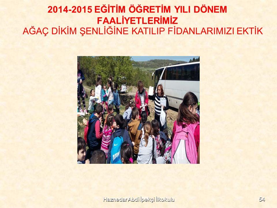 Haznedar Abdi İpekçi İlkokulu54 2014-2015 EĞİTİM ÖĞRETİM YILI DÖNEM FAALİYETLERİMİZ AĞAÇ DİKİM ŞENLİĞİNE KATILIP FİDANLARIMIZI EKTİK