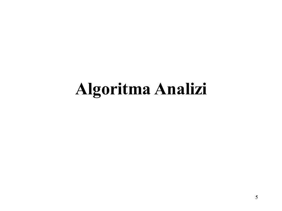 6 Algoritma Algoritma bir problemi çözmek için izlenen komutlar kümesidir.