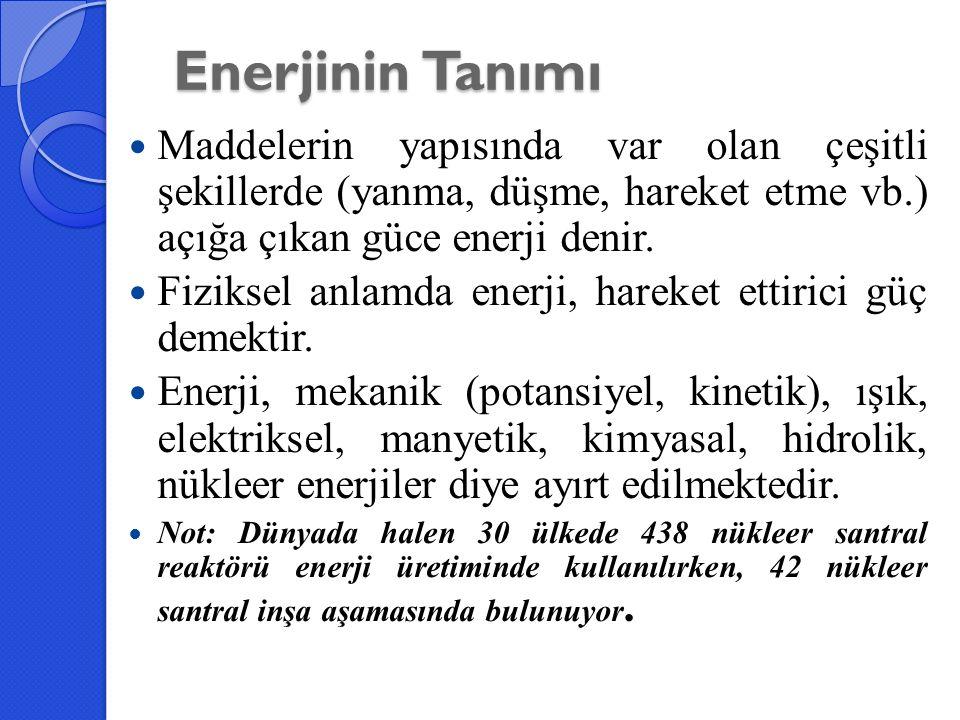 Türkiye'nin Enerji Kaynakları Türkiye'de mevcut enerji kaynakları şu şekilde incelenebilir.