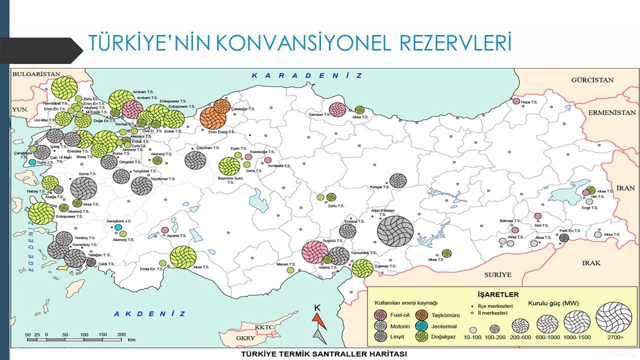 TÜRKİYE'NİN KONVANSİYONEL REZERVLERİ