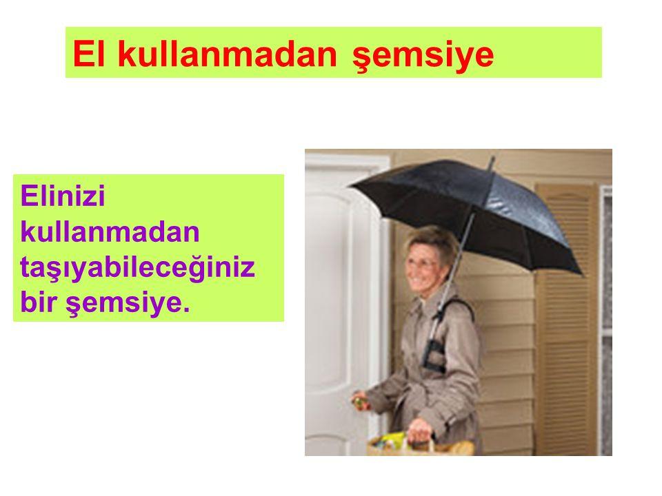 Elinizi kullanmadan taşıyabileceğiniz bir şemsiye. El kullanmadan şemsiye