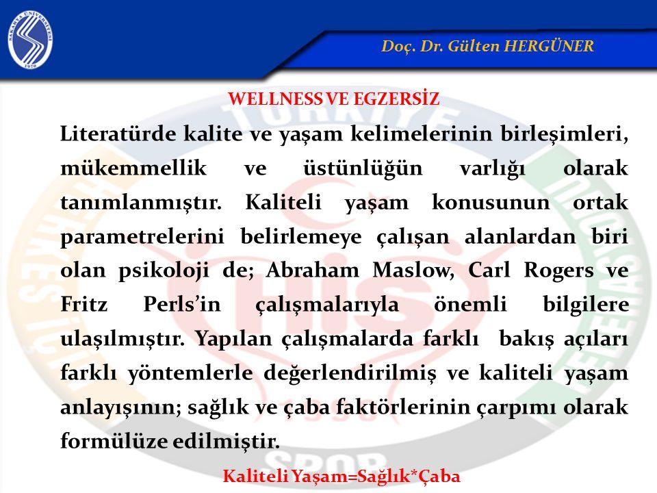Wellness kavramı; birçok farklı olgunun bütünleşmesiyle açıklanan ve bireyin kaliteli yaşam için potansiyelini arttırıp daha iyi çalışmasını ve de topluma faydalı katılımını sağlayan önemli süreçtir.