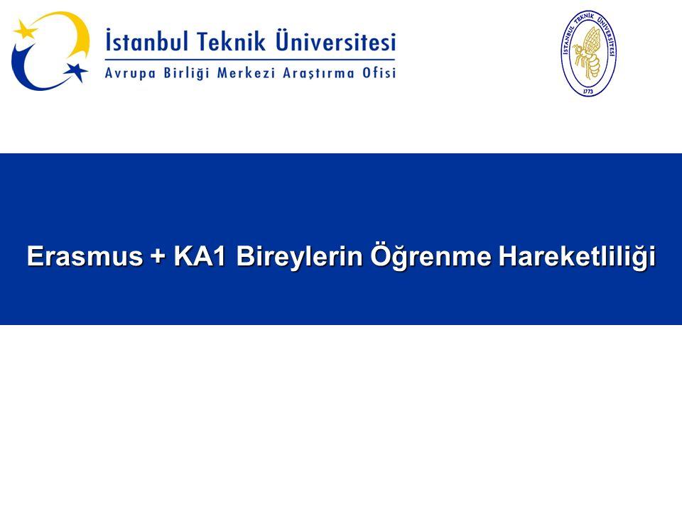 Erasmus + KA1 Bireylerin Öğrenme Hareketliliği Erasmus + KA1 Bireylerin Öğrenme Hareketliliği