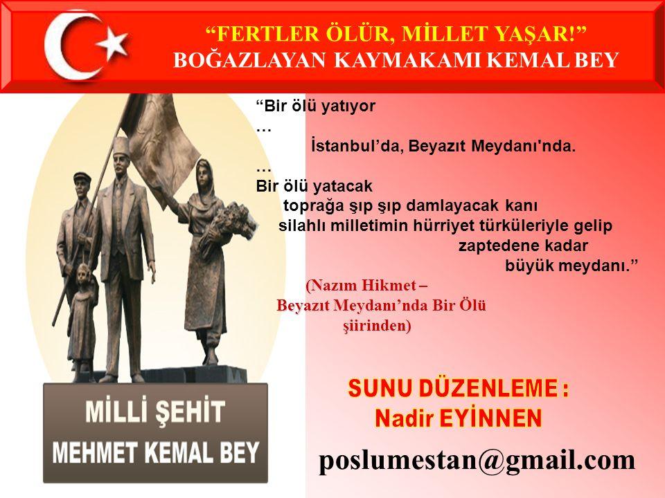 Mehmet Kemal Bey'in Kadıköy Kuşdili'indeki Mezarı.
