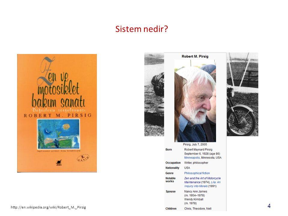 4 Sistem nedir http://en.wikipedia.org/wiki/Robert_M._Pirsig