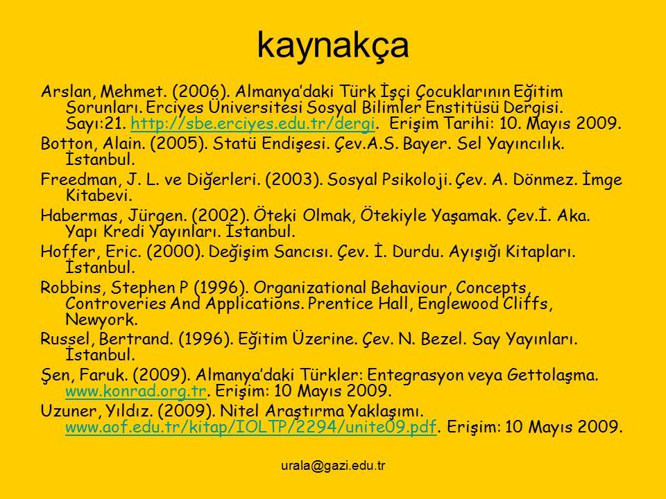 urala@gazi.edu.tr kaynakça Arslan, Mehmet. (2006).