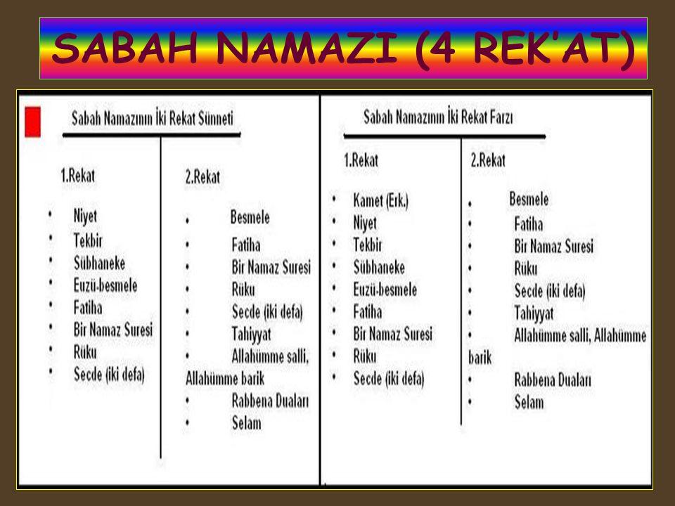 SABAH NAMAZI (4 REK'AT)