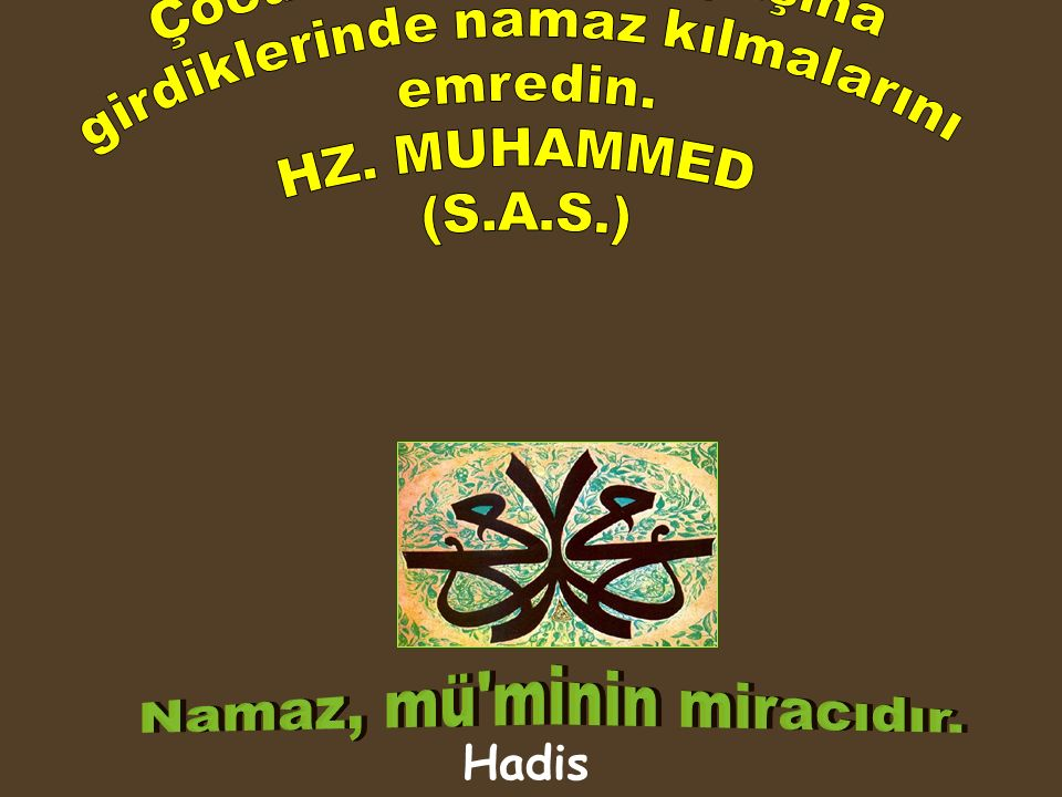 1) Namaza Allahu Ekber sözü ile başlamak, 2) Namazda Fatiha sûresini okumak, 3) Fatiha sûresini farz namazların ilk iki rekatında, vitir ve nafile namazların her rekatında okumak, 4) Farz namazların ilk iki rekatında, vitir ve nafile namazların her rekatında sûre veya âyet okumak,