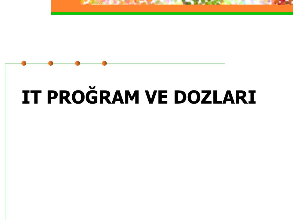 IT PROĞRAM VE DOZLARI