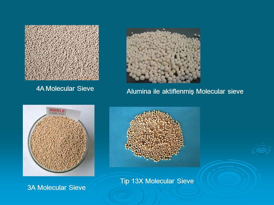 4A Molecular Sieve Alumina ile aktiflenmiş Molecular sieve Tip 13X Molecular Sieve 3A Molecular Sieve