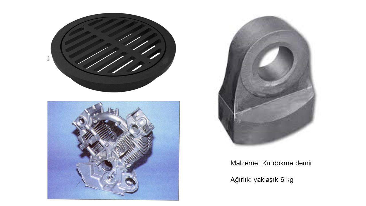 Malzeme: Kır dökme demir Ağırlık: yaklaşık 6 kg