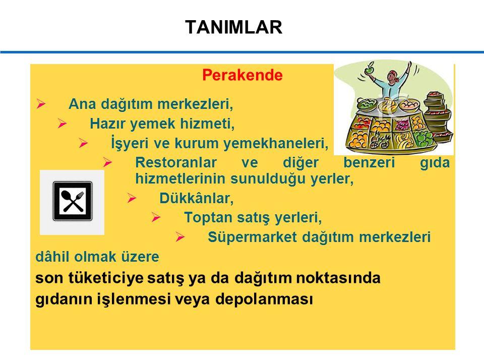 17 Onaya Tabi Gıda İşletmeleri  Et ve et ürünleri işleyen işletmeler.