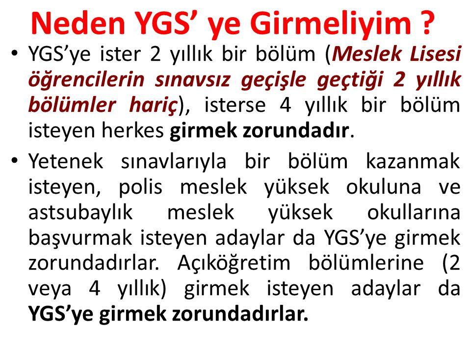 Neden YGS'ye Girmeliyim .