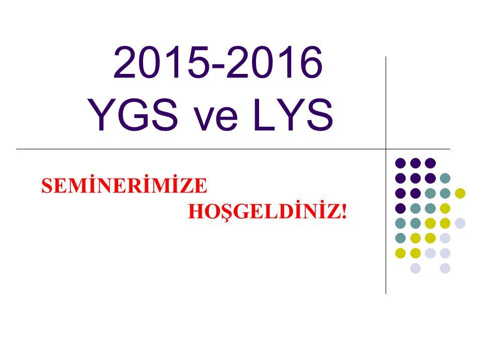2015-2016 YGS ve LYS SEMİNERİMİZE HOŞGELDİNİZ!