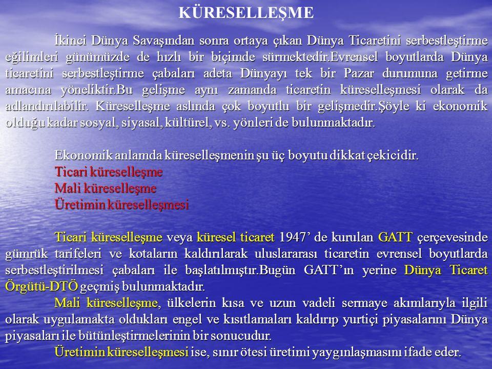 İKTİSADİ BİRLEŞMELER TÜRLERİ 3.
