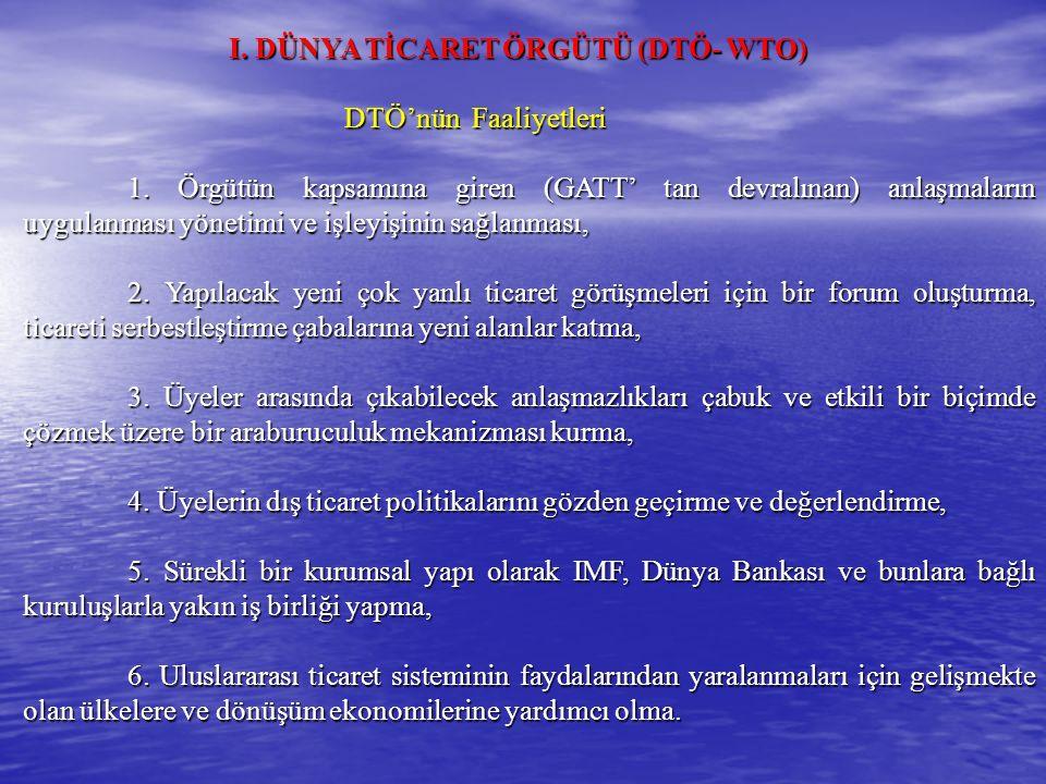 İKTİSADİ BİRLEŞMELER TEORİSİ B.
