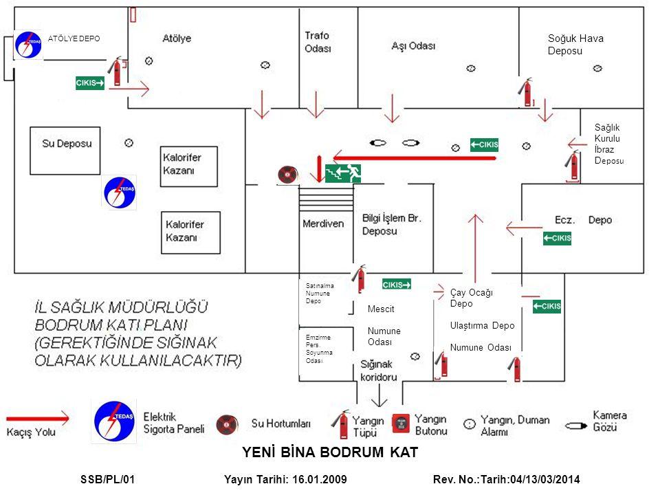 YENİ BİNA ZEMİN KAT SSB/PL/02 Yayın Tarihi: 16.01.2009 Rev.