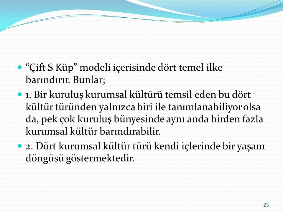 Çift S Küp modeli içerisinde dört temel ilke barındırır.