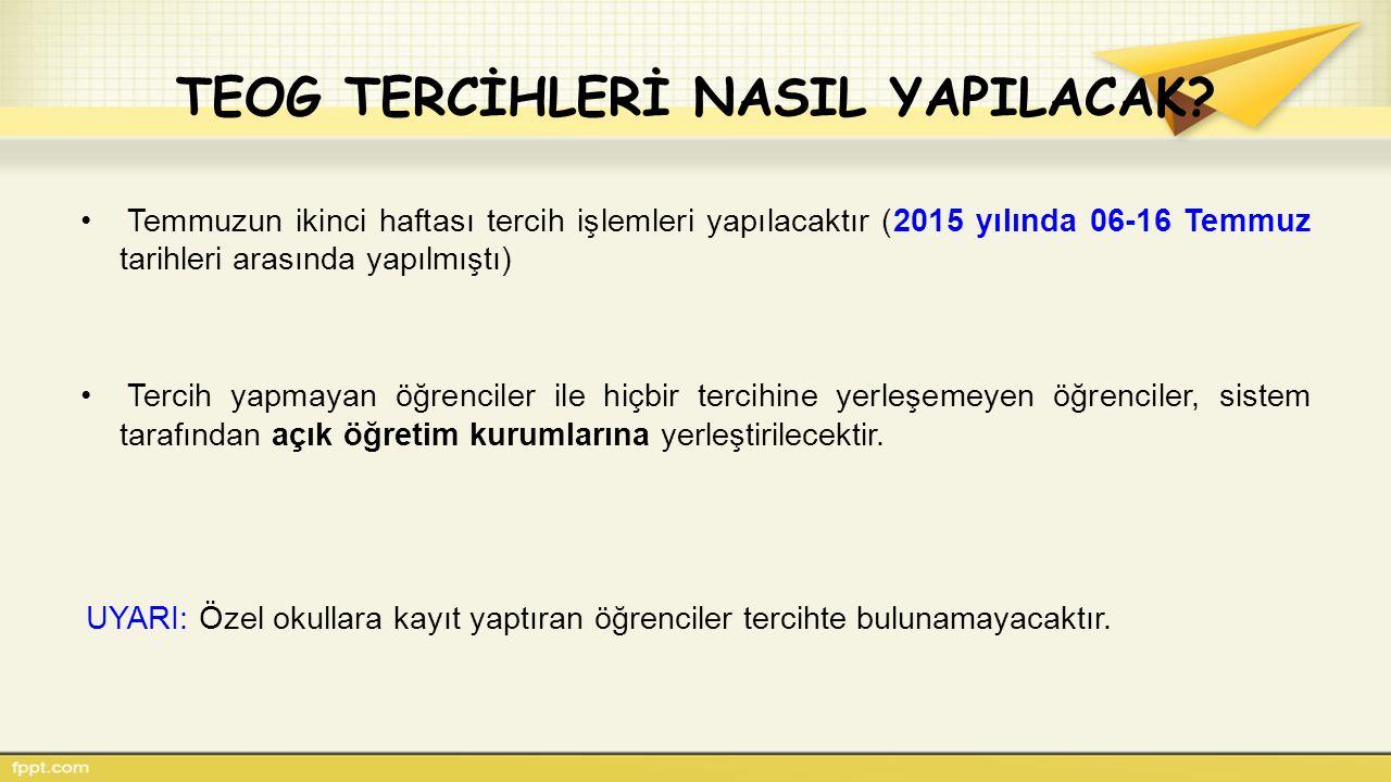 TEOG TERCİHLERİ NASIL YAPILACAK.