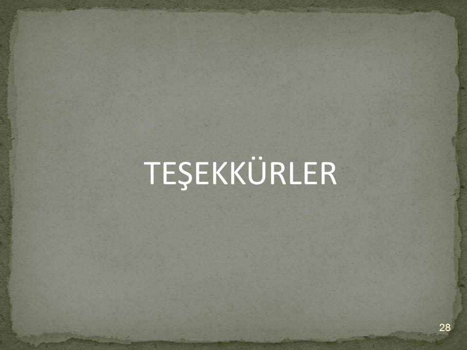 TEŞEKKÜRLER 28