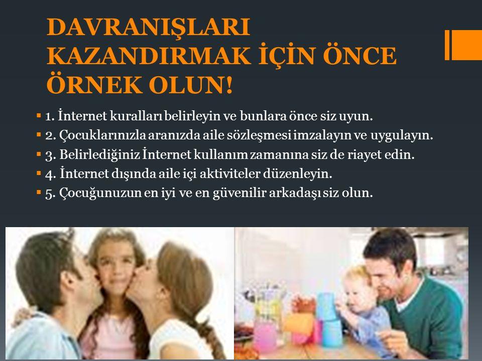 DAVRANIŞLARI KAZANDIRMAK İÇİN ÖNCE ÖRNEK OLUN. 1.