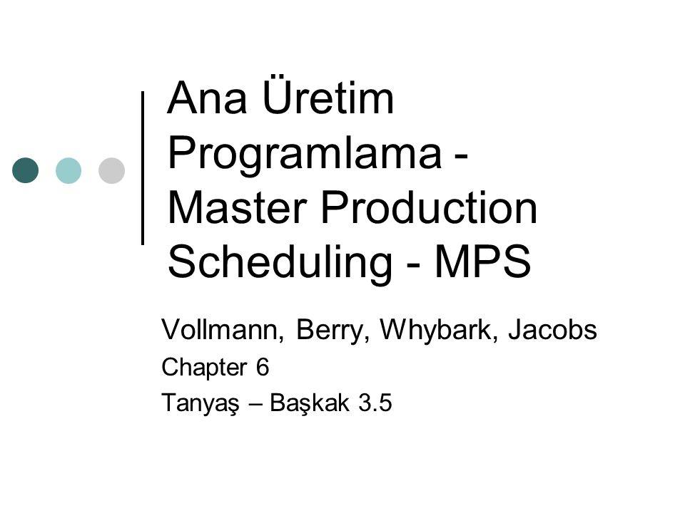 MPS – Ana Üretim Programı MPS, şirketin üretim yapmak için ne tür beklentilerinin olduğunun ifadesidir.