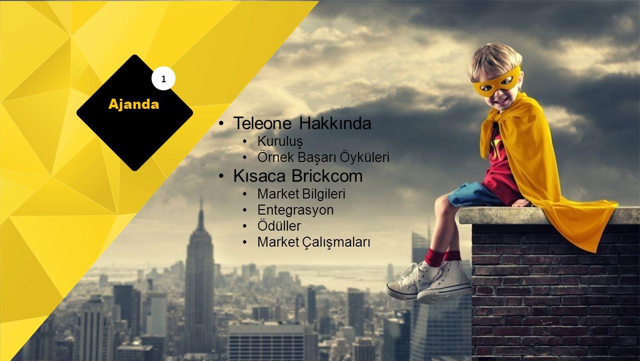 Teleone Hakkında Kuruluş Örnek Başarı Öyküleri Kısaca Brickcom Market Bilgileri Entegrasyon Ödüller Market Çalışmaları 1 Ajanda