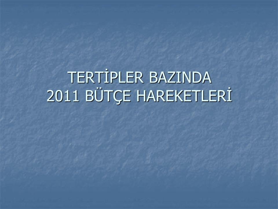 TERTİPLER BAZINDA 2011 BÜTÇE HAREKETLERİ