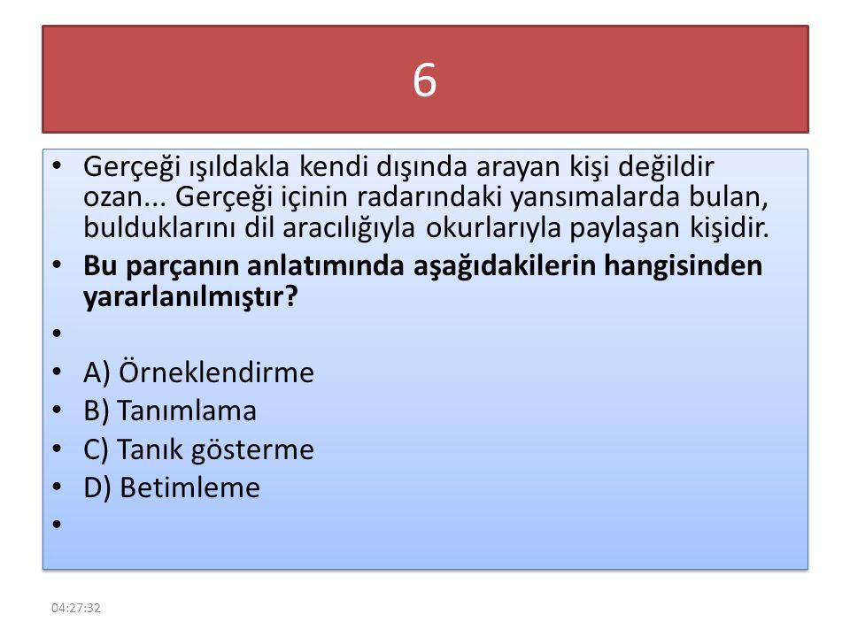 17 Aşağıdaki cümlelerin hangisinde büyük harflerin kullanımıyla ilgili bir yazım yanlışı vardır.