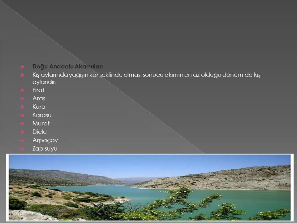  Güneydoğu Anadolu Akarsuları  Bu bölgede akarsular derin vadi içinde akar.