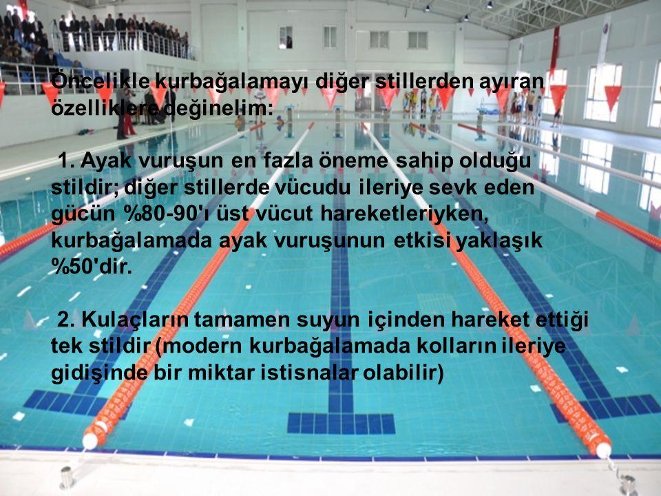 3.En yavaş yüzme stilidir. 4. Ayakların hiç suyun yüzeyine çıkmadığı tek stildir.
