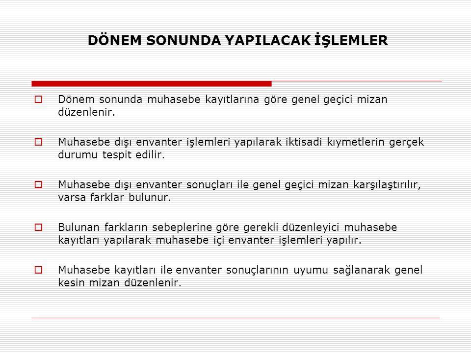 101 - ALINAN ÇEKLER HESABI 31.12.2013 tarihinde işletmenin elinde 4.500.- Tl tutarında 2014 yılı vadeli müşteri çekleri bulunmaktadır.