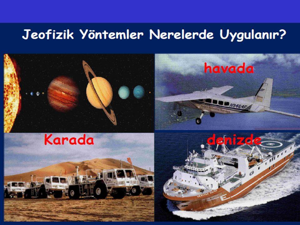 JEOFİZİĞİN UYGULAMA ALANLARI Levha Tektoniği Ve Deprem Araştırmaları Jeofizik Yöntemlerle Karada Ve Denizde Jeolojik Yapıların Araştırılması Yeraltı Kaynaklarının Araştırılması Çevre Jeofiziği Arkeolojik Araştırmalar Jeolojik Zamanlardaki Yer Manyetik Alanının Belirlenmesi Atmosfer Ve Uzay Araştırmaları Termal Alan Araştırmaları Geoteknik / Zemin Araştırmalar Adli Jeofizik