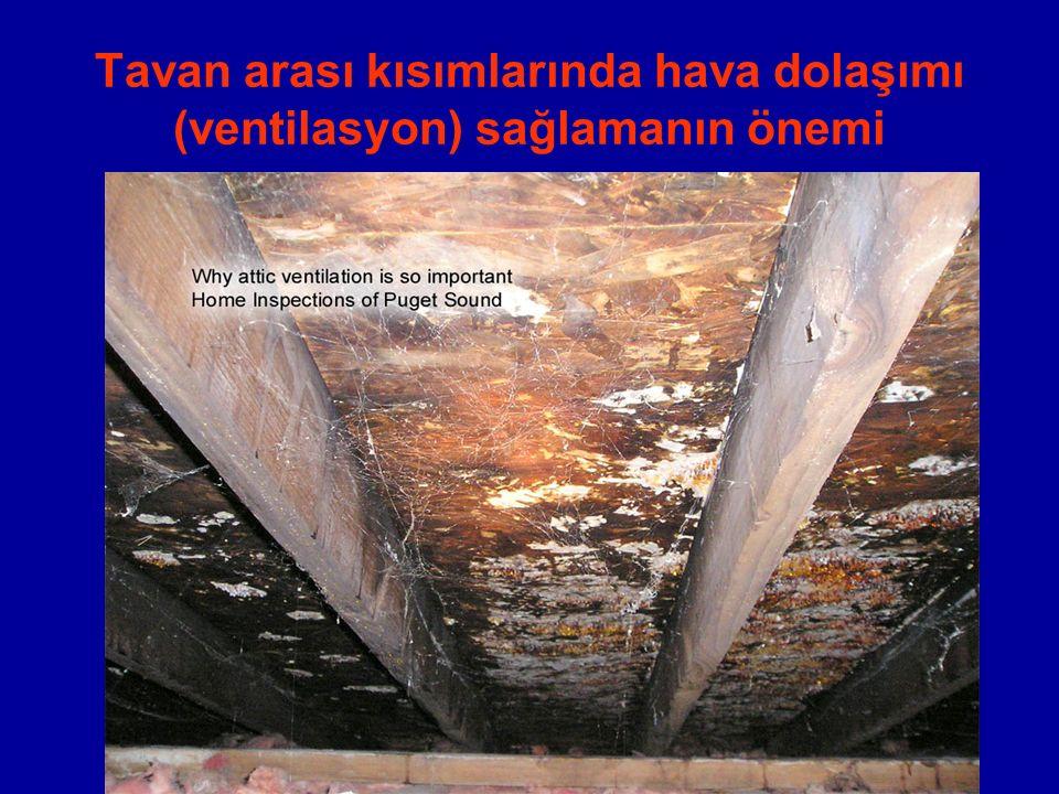 Tavan arası kısımlarında hava dolaşımı (ventilasyon) sağlamanın önemi
