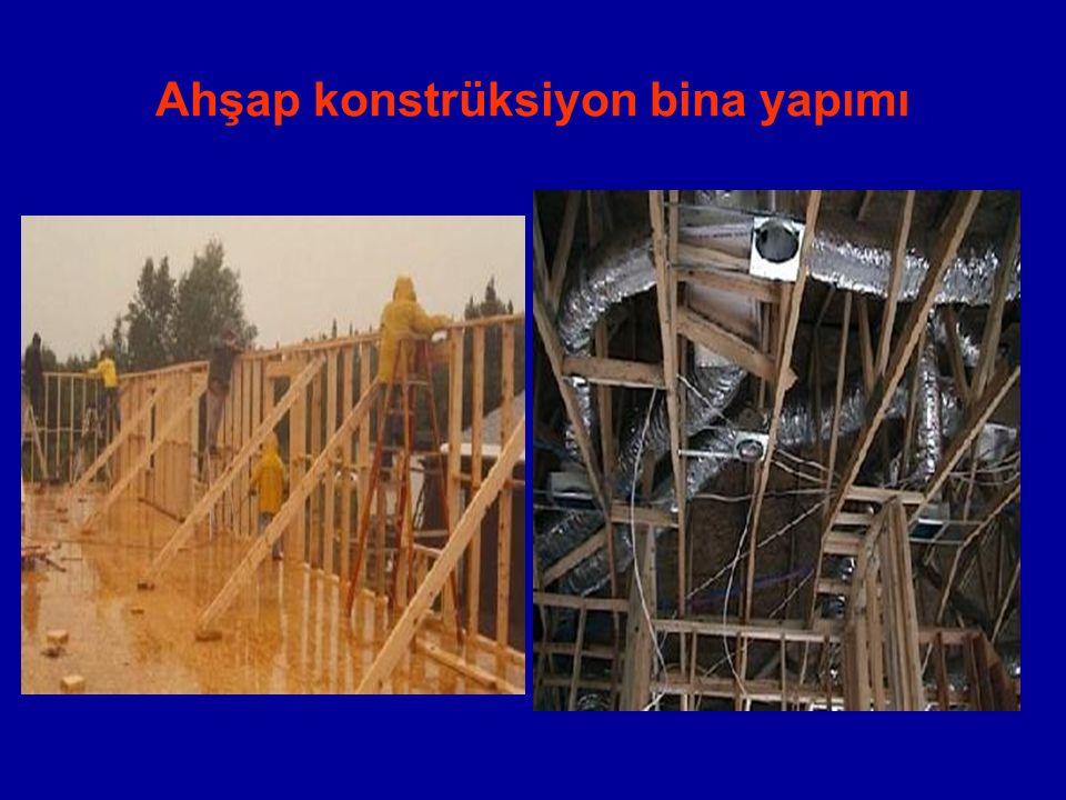 Ahşap konstrüksiyon bina yapımı
